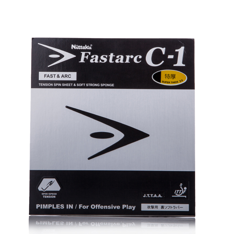 NITTAKU Original FASTARC C-1 C1 Pimples In Table Tennis Rubber Ping Pong With Sponge Tenis De Mesa palio tct table tennis blade with 2x cj8000 biotech rubber with sponge h40 42 for a ping pong racket