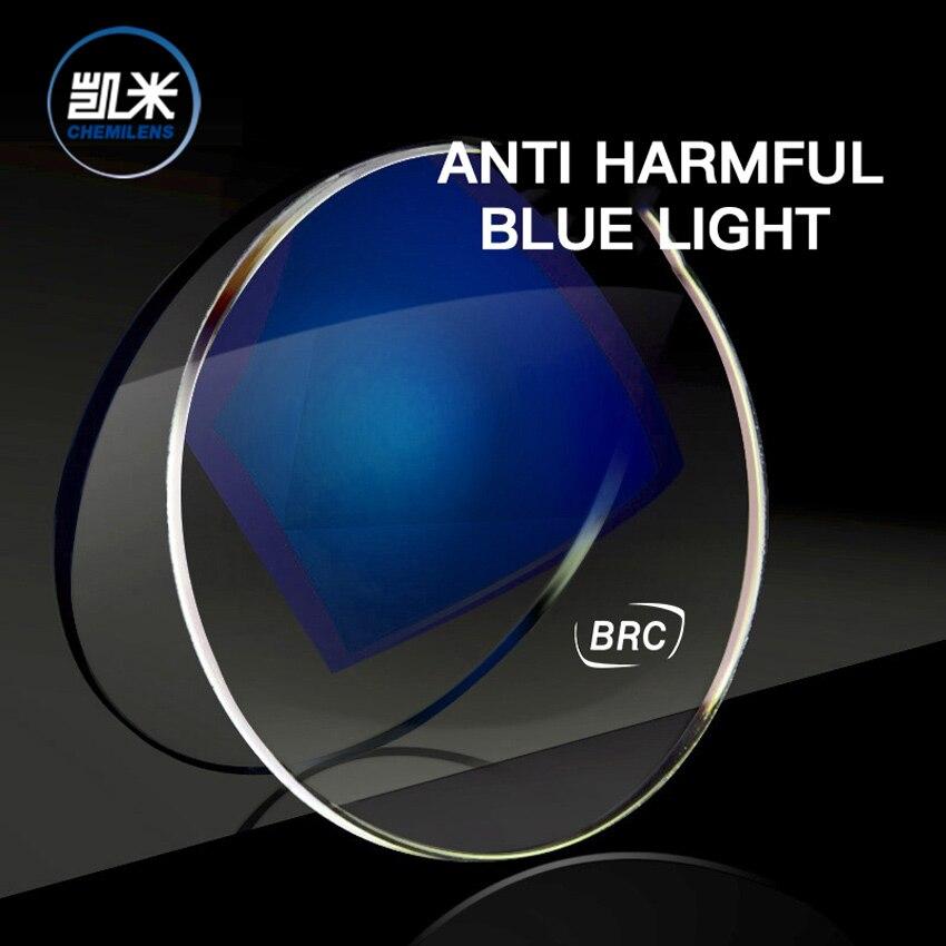 Lentilles de blocage de la lumière bleue CHEMI pour verre optique de Prescription par ordinateur lentilles de rayons anti-bleus clairs myopie d'astigmatisme