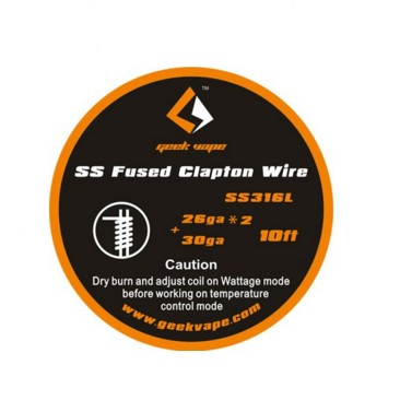 original GeekVape Fused Clapton SS316 Tape Wire (26GA*2/Paralleled + 30GA) DIY vape coil easy to wick high quality