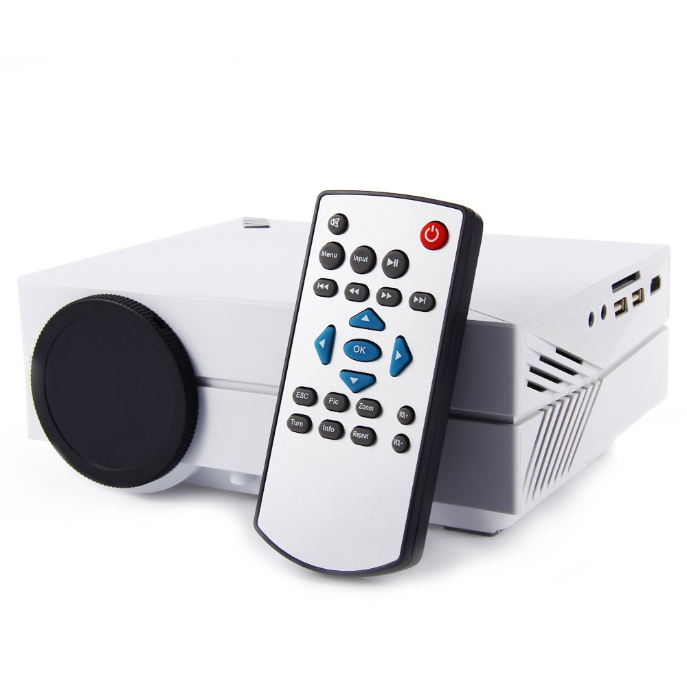 GM60 Portable 1000LM 800*480 Multimedia Mini Projector With USB VGA HDMI AV Earphone SD Card Slot HD 1080P LED Projector