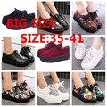 Enredaderas Zapatos de Mujer zapatos de mujer 2016 hot Casual Vintage tallas grandes enredaderas zapatos de plataforma de las mujeres Zapatos de Los Planos de Las Mujeres Tamaño 35-41