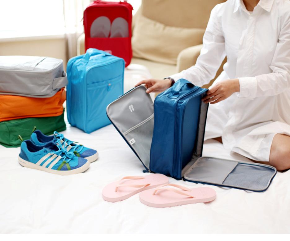cc4c5230 Flight Travel Shoes Bag Trip Mens Womens Travel Accessories Portable Nylon  Shoe Bags Waterproof Carrying Shoe Packing Organizers