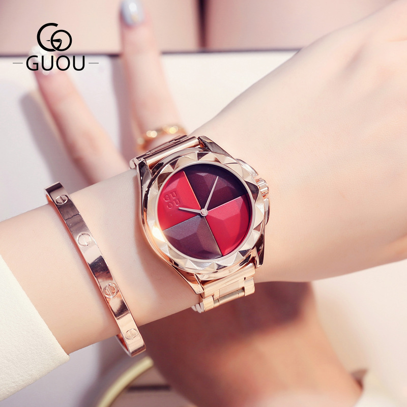 Fashion Large Dial Casual Watch Lady Simple Stainless Steel Lady Wrist Watch Dress Clock Fashion Watch Saat Montre FemmeFashion Large Dial Casual Watch Lady Simple Stainless Steel Lady Wrist Watch Dress Clock Fashion Watch Saat Montre Femme
