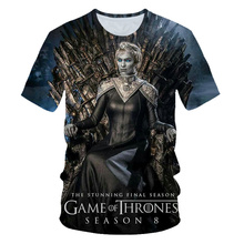 BIAOLUN 2019 Summer Game Of Thrones House Stark The North Remembers Men Raglan T Shirts3D Cersei Lannister T Shirt Tops Tees 6XL цена
