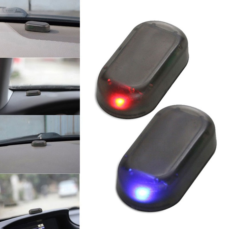Сигнальная лампа поддельная Противоугонная Предупреждение льная лампа автомобильная сигнализация Универсальная автомобильная Охранная стробоскоп