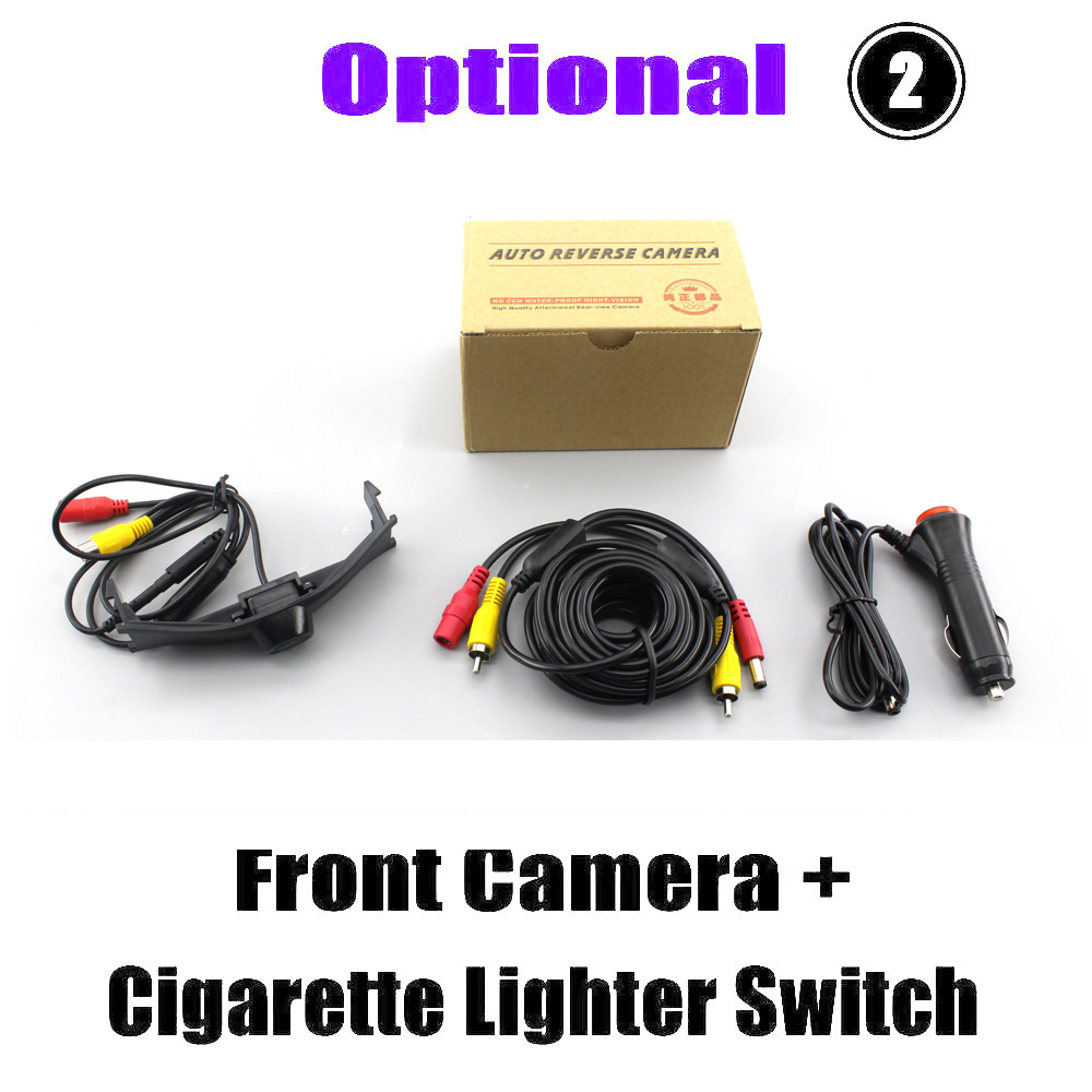 Liandlee Car Front View Camera For Peugeot 3008 2013 2014 2015 Logo Embedded Cigarette Lighter 4 3 quot LCD Monitor in Vehicle Camera from Automobiles amp Motorcycles