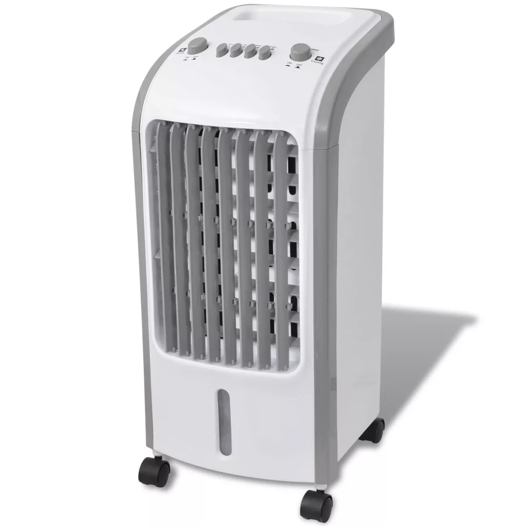 VidaXL 5 L 80 W 3 Levels Air Cooler 270 M³/H 25 X 26 X 56 Cm Efficient And Portable 3 In 1 Air Cooler
