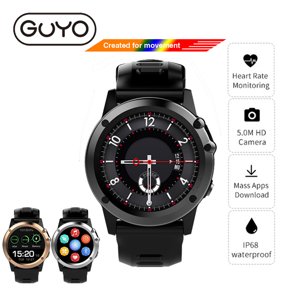 H1 GPS Smart Watch IOS Android Phone Call IP68 Waterproof Smartwatch Bluetooth SIM TF Camera Heart Rate Monitor For Android IOS no 1 f2 ip68 bluetooth smartwatch green