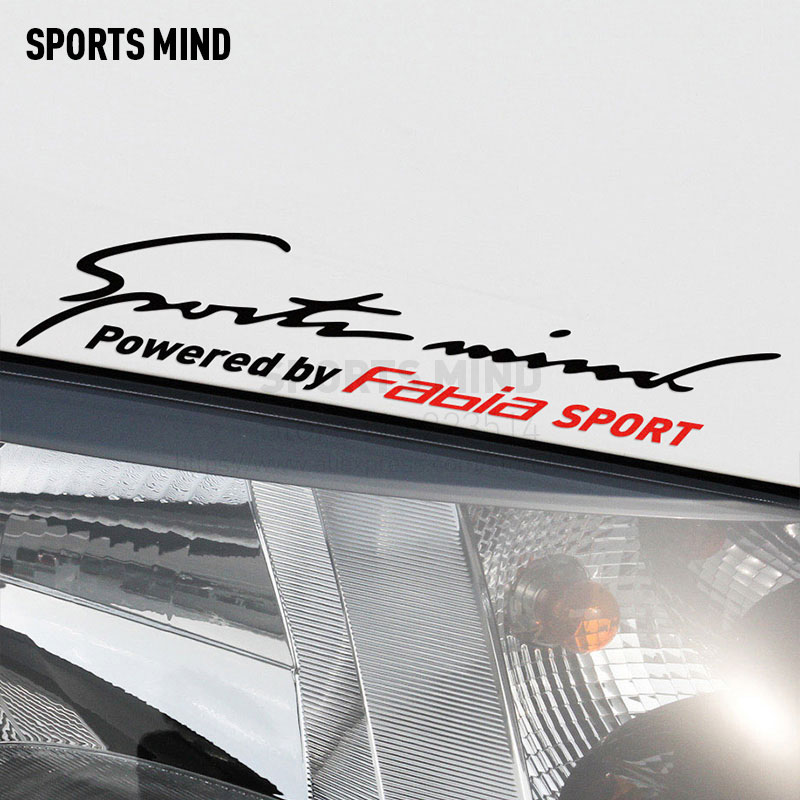 2 Pieces Sports Mind Car Styling On Car Lamp Eyebrow Automobiles Car Sticker Decal For skoda fabia exterior accessories