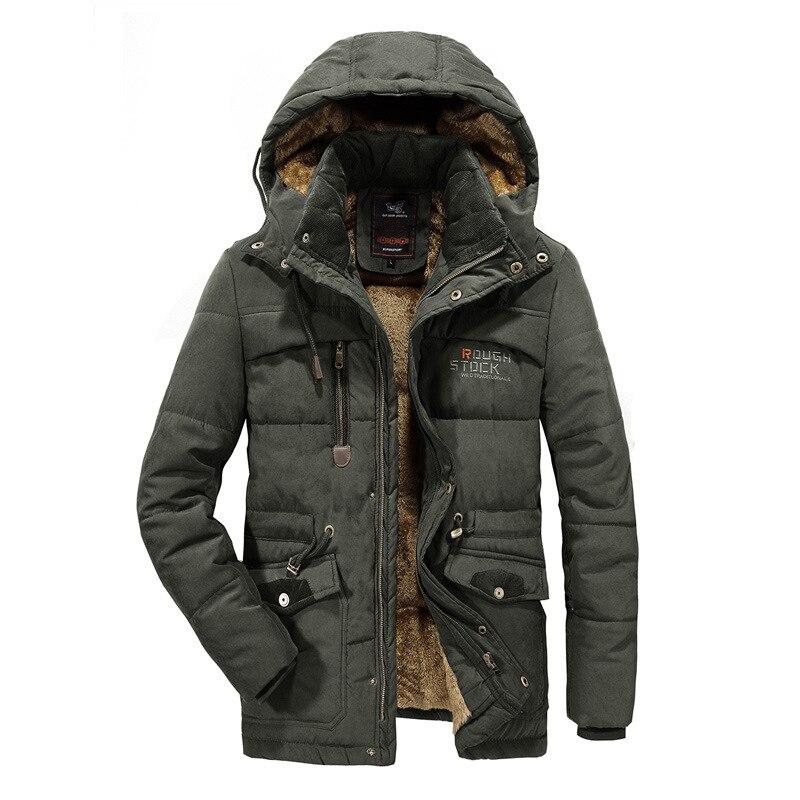 Men plus size 6XL 7XL 8XL winter jacket men s solid color hooded military Parka coat