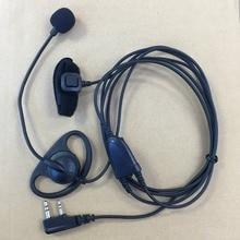 honghuismart D shape headphone MIC Finger PTT for Kenwood BaoFeng UV5R WouXun PuXing TYT etc walkie