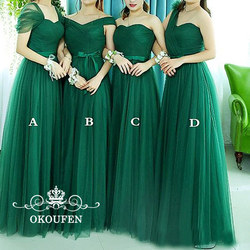 Green Tulle Bohemia   Bridesmaid     Dresses   For Women 2019 Wholesale Price Under 100 A Line Long Maid Of Honor Prom   Dress   Party Gowns
