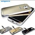 S6 S6 borda de Metal de alumínio + de silicone TPU telefone para Samsung Galaxy S6 S6 borda capa de luxo Ultra fino