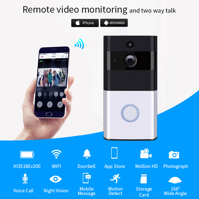 Deurbel Voor Iphone.Meisort Draadloze Deurbel Wifi Intercom Ip Camera Wifi Alarm Deurbel Afstandsbediening Deurbel Voor Iphone Andorid Mobiel