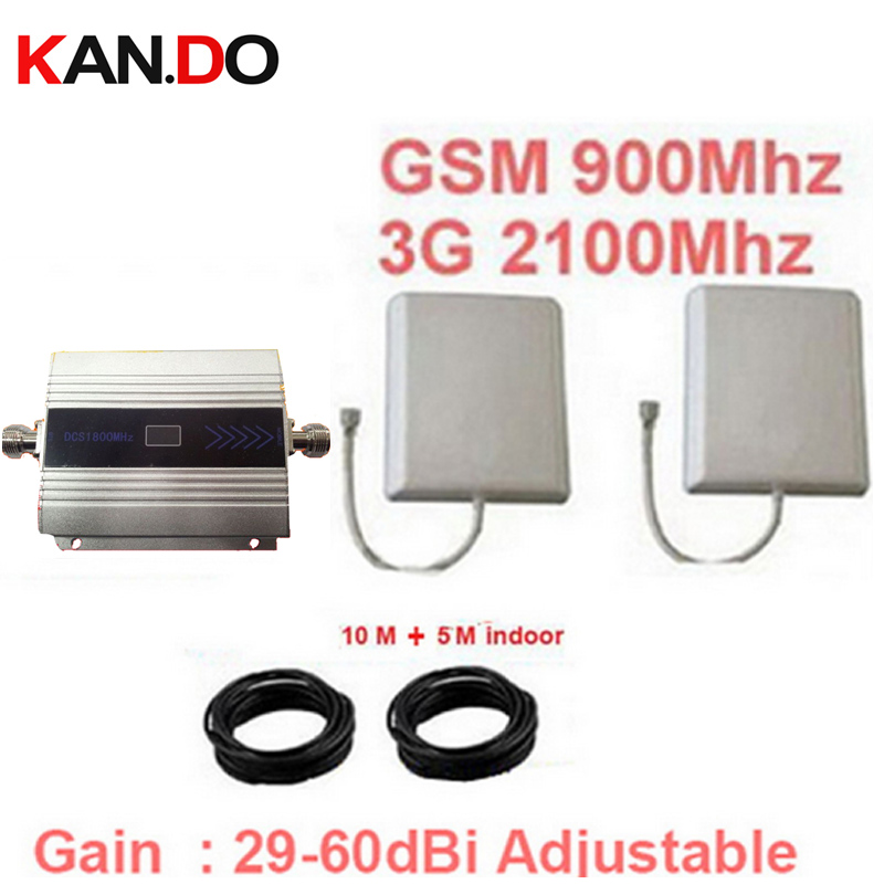 Dcs 1800mhz Repeater Complete Kits Cable & Antennas LCD Display Function 2g 4g Booster DCS Repeater Dcs Signal Booster