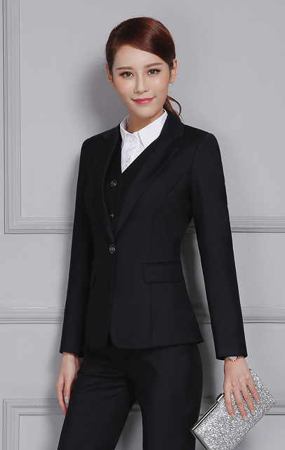 Two Pieces Set Women's Slim Skirt Suit Fashion OL Ladies Business Outfits Suits For Formal Wear Uniforms Two Piece Set