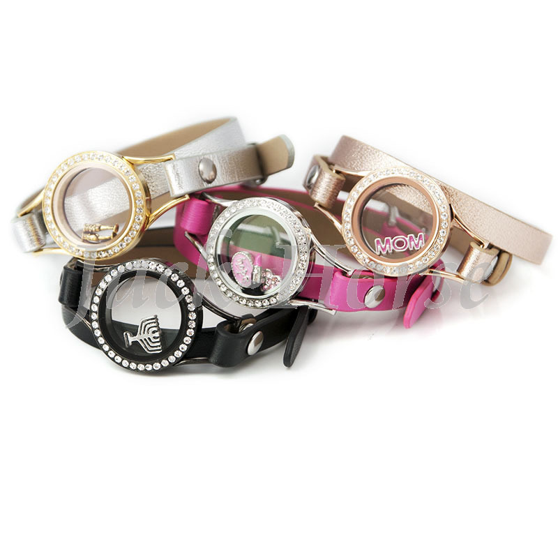 Leather Wrap Charm Bracelet: Aliexpress.com : Buy Waterproof Floating Charms Bracelet