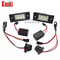 2X LED Number License Plate Light 12V SMD LED Canbus Lamp Car Styling For Porsche Cayenne