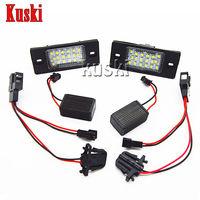 2X LED Number License Plate Light 12V SMD LED Canbus Lamp Car Styling For Porsche Cayenne