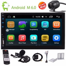2 Din Autoradio Android 6.0 GPS Stereo Video Audio Player Head Unit support Bluetooth,GPS,Radio,WiFi Camera/External Microphone