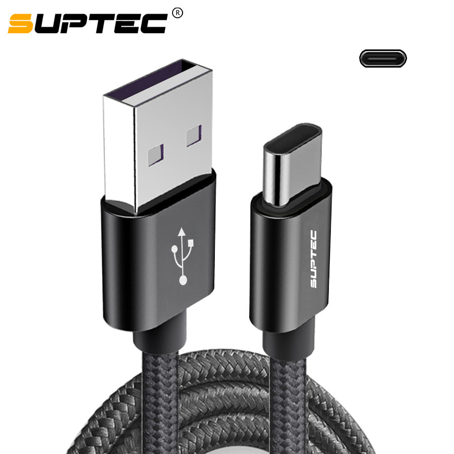 SUPTEC New Durable Braided Nylon USB Type C Cable for Samsung Xiaom Huawei USB Type C Data Charging Cable USB C Charger Cord|Mobile Phone Cables|   - AliExpress