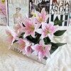 1 cái 10 Người Đứng Đầu Nhiều Màu Nhân Tạo Lily Flower Bouquet Hoa Giả Bridal Hoa Wedding Trang Trí Vòng Hoa P20