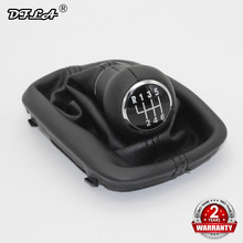 For Audi A8 1996 1997 1998 1999 2000 2001 2002 2003 Car-styling 6 Speed Manual Car Stick Gear Shift Knob Leather Boot for skoda fabia 1 mki 2000 2001 2002 2003 2004 2005 2006 2007 2008 car styling 5 speed car gear stick shift knob leather boot