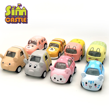 SIMCASTLE Original Animal Metal Mini Toy Car Colourful Cartoon 1:43 Diecast Model Kids Cars Toys For Children Birthday Gifts