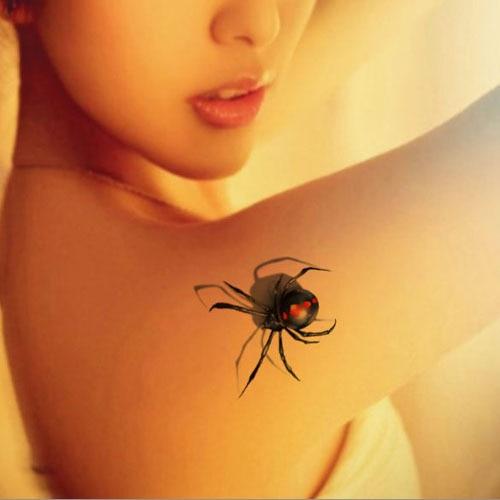 Waterproof Green Tattoo Sticker Spider Temporary Body Art S Skin Paint Dressing One Time Paper Y Tatuajes