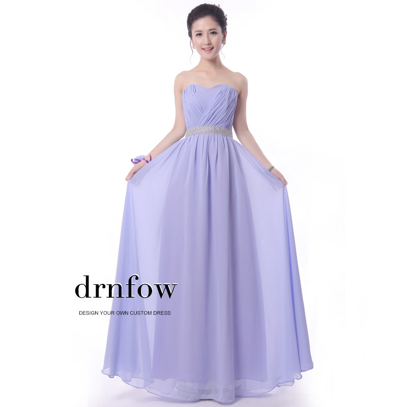 Long Cheap Bridesmaid formal dresses sister wedding bride party ...