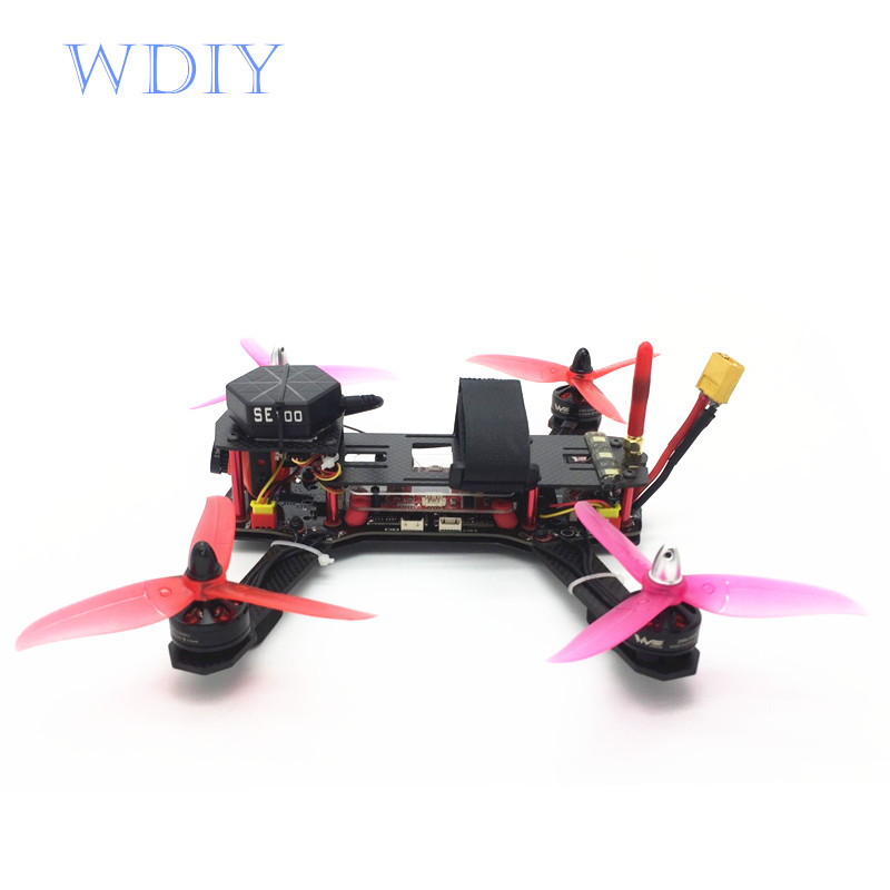 WDIY for QAV250  FPV drong  - machine plant sprayers GPS one - key homing piX flight control integrated 12A Esc DIY for qav250 wdiy motor2204 2300kv qav x qav210  4s