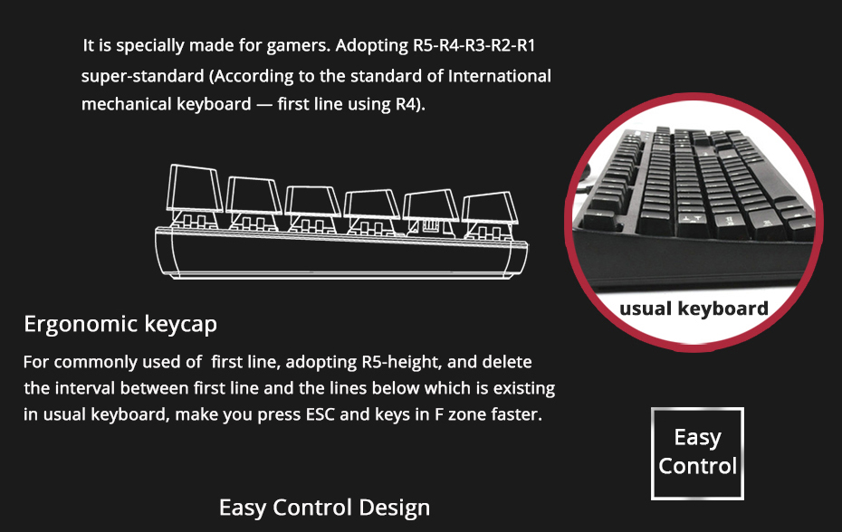 Ajazz AK33 gaming keyboard 82 keys RussianEnglish RGB backlight ergonomic wiredwireless mechanical keyboard conflict-free  (5)