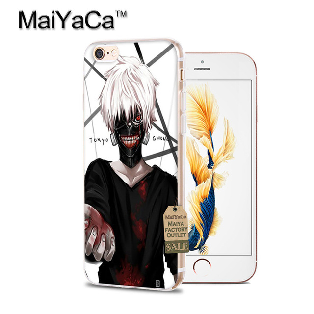 Tokyo Ghoul Phone Case Accessories Cover For iPhone 4 4S 5s 6s 7  7 plus Case Ken Kaneki