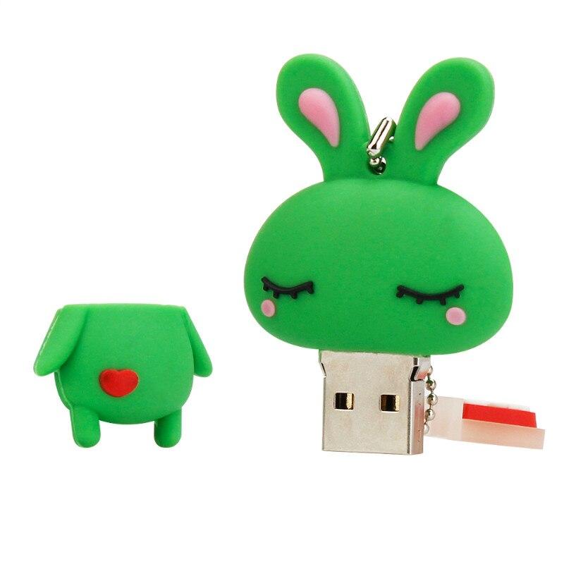 Creative Usb Flash Drive Cute Cartoon Rabbit 4GB 8GB 16GB 32GB Pen Drive High Speed Usb Stick 64GB 128GB Pendrive Free Shipping in USB Flash Drives from Computer Office