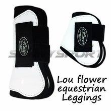 Лошадь с профессиональным конным конем Леггинсы защитное снаряжение до и после конного скидка