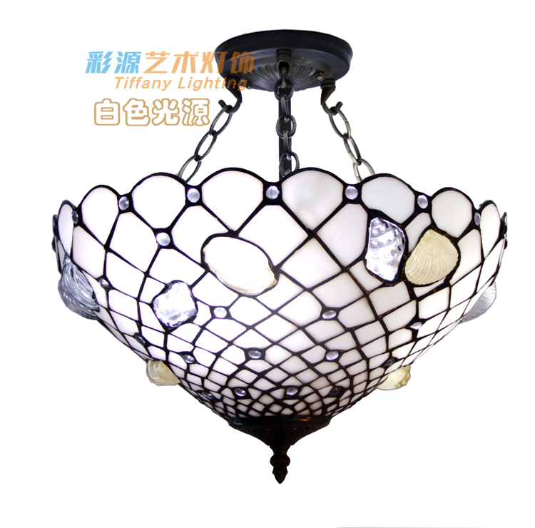 Tiffany stained glass natural conch Garden Restaurant pendant light bedroom study cloakroom reverse hanging PENDANT lamp high grade antique tiffany lamp natural agate jade art decorative hanging lamp bedroom study room