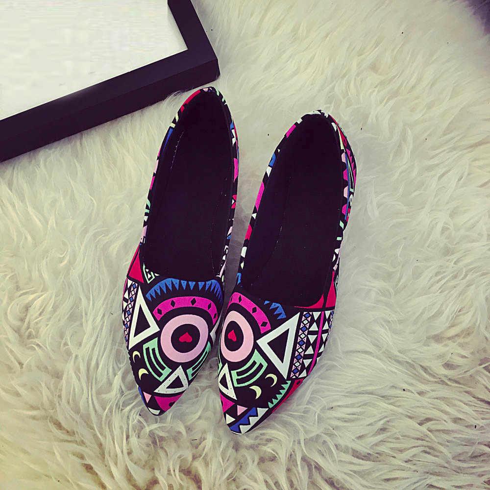 Vrouwen Casual Multicolor Alle Seizoenen Ballet Slip Op Flats Loafers Schoenen Gladiator Romeinse Wees Teen Platte vrouwen Schoen Outdoor Mar 6