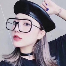 2018 Rushed Sale Solid Alloy Unisex Eyeglasses Glasses Fashion Square Sunglasses Myopia Big Box Star And Net Frame Flat