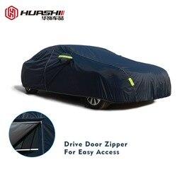 9 размер водонепроницаемые автомобильные чехлы для улицы Защита от солнца чехол для автомобиля отражатель пыль Дождь Снег защитный внедоро...