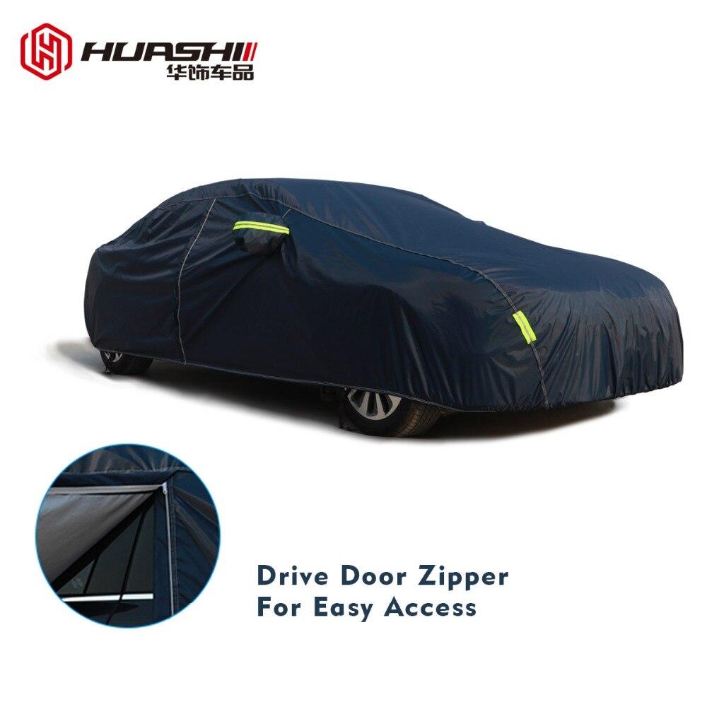 9 taille imperméable bâches de voiture couverture de protection solaire extérieure pour voiture réflecteur poussière pluie neige protection suv berline hayon complet