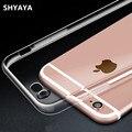 Caso capa de silicone para o iphone 7 shyaya para iphone 7 além de Cor Transparente Proteção Do Telefone de Casca Mole Fino i7 4.7 5.5