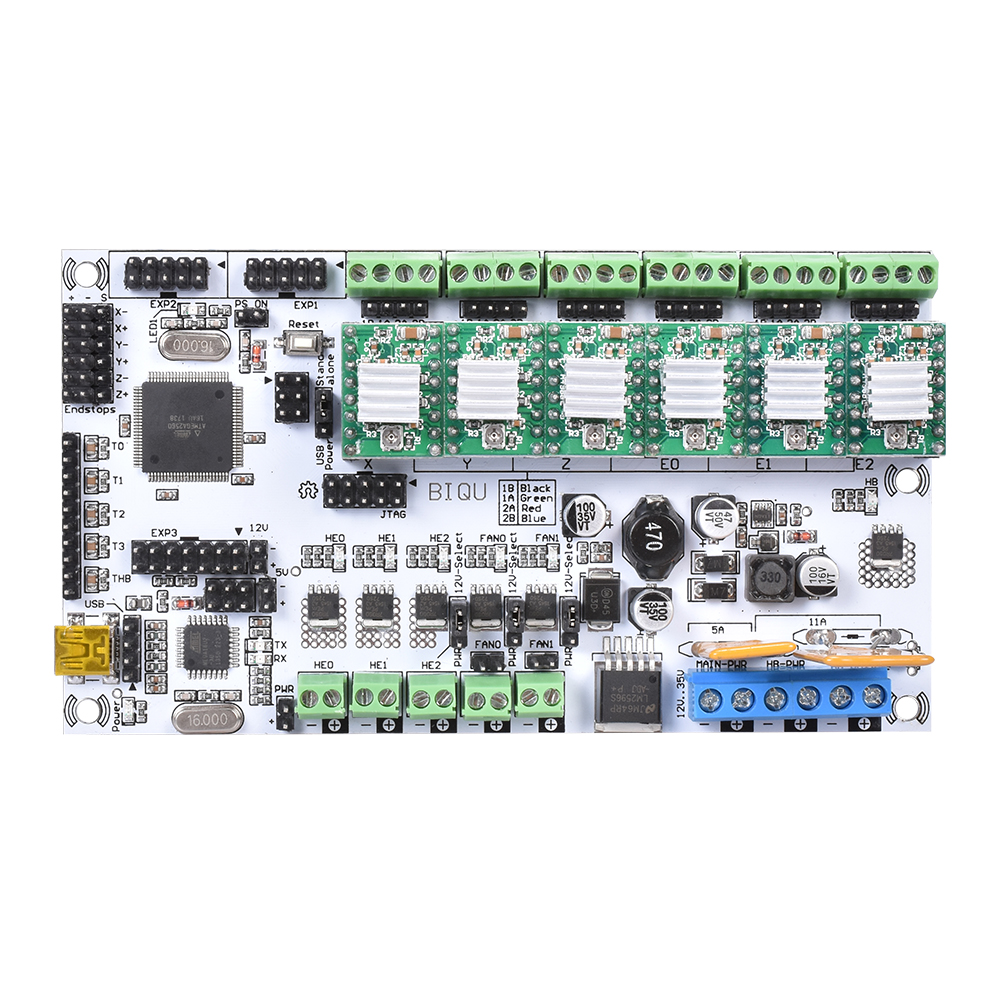 3D Printer Mainboard Rumba Motherboard MPU 3D Printer Accessories RUMBA Control Board Reprap A4988/DRV8825 Stepper Motor Driver diy biqu rumba 3d printer rumba control board lcd 12864 controller display jumper wire a4988 driver for reprap 3d printer kit103