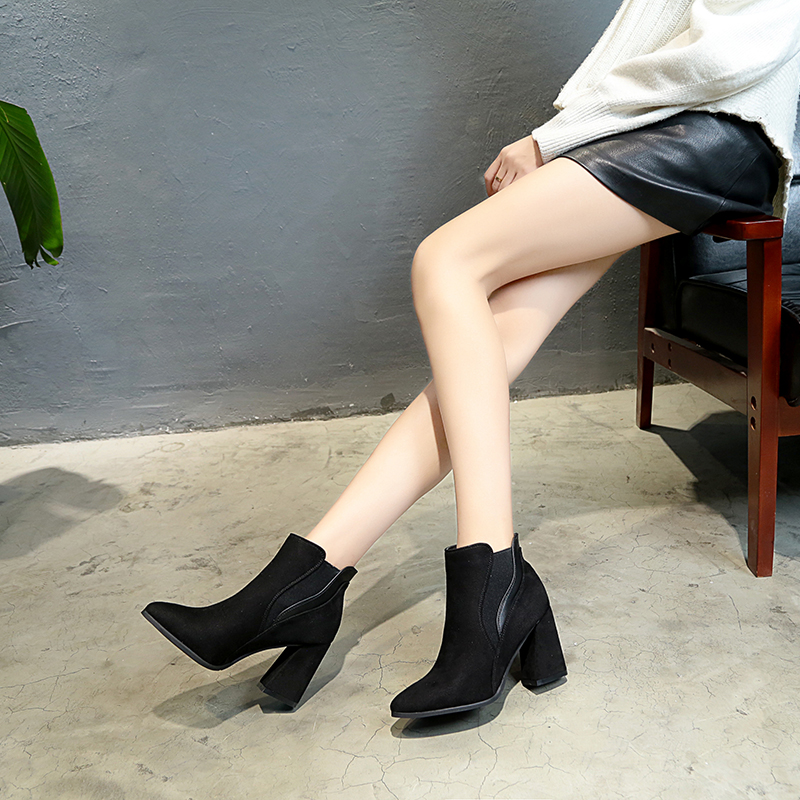 Moda Martin Sólido Mujeres Redonda Caliente Cabeza Botas De O34 Las Black 2018 Salvaje Color Invierno Cómodo Cuadrada Nueva nBZ6R6qY