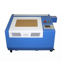 Cnc Cutting Machine CO2 3040 Pro 50W Laser Engraving Machine With Rotary Axis 300x400mm Working Size