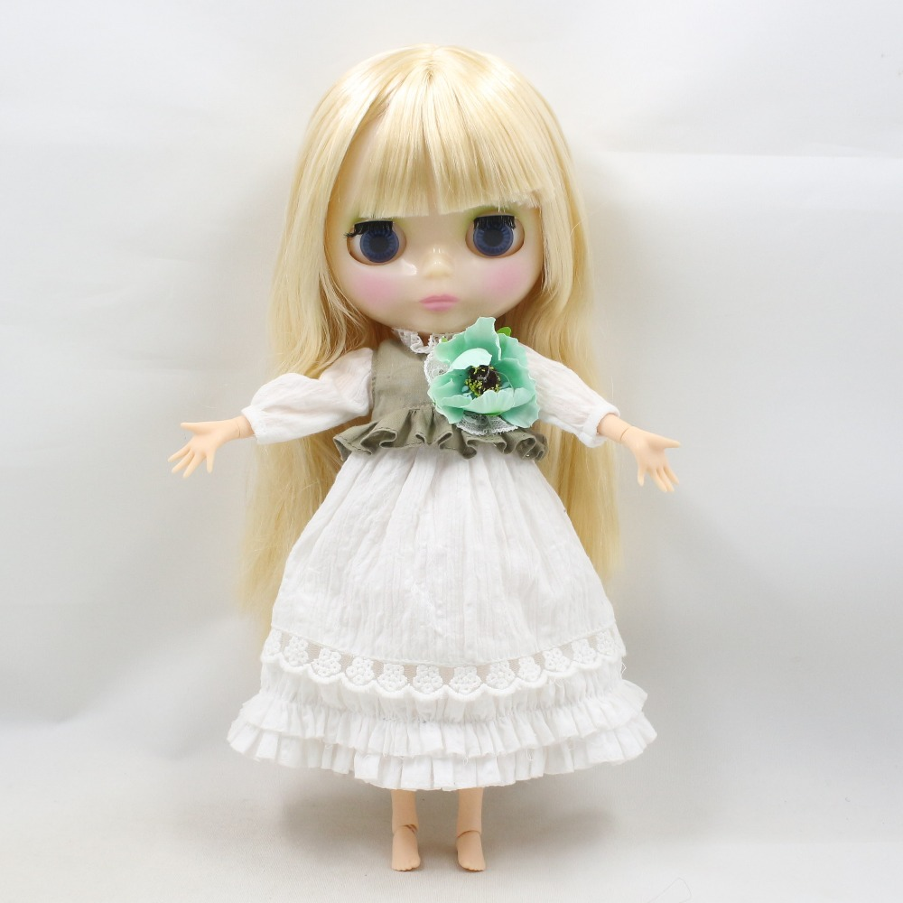 Neo Blythe Doll Floral Lace Dress with Bow, Ear & Headdress 2