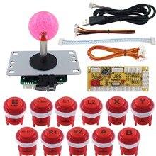 SJ @ JX Jogo de Arcade DIY Kit Teclado Mecânico Interruptor de Botão com O Logotipo De Zero Atraso USB Codificador De Arcade Joystick Controlador
