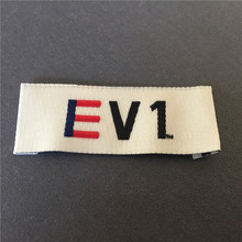 Factory Price Customized Thick Cloth Labels 2*5.2cm End Fold Washable Clothing Woven