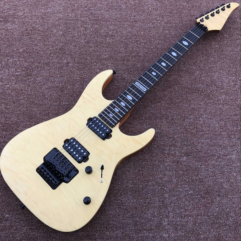 chinese electric guitars guitar factory direct custom shop beige real photos in guitar from. Black Bedroom Furniture Sets. Home Design Ideas
