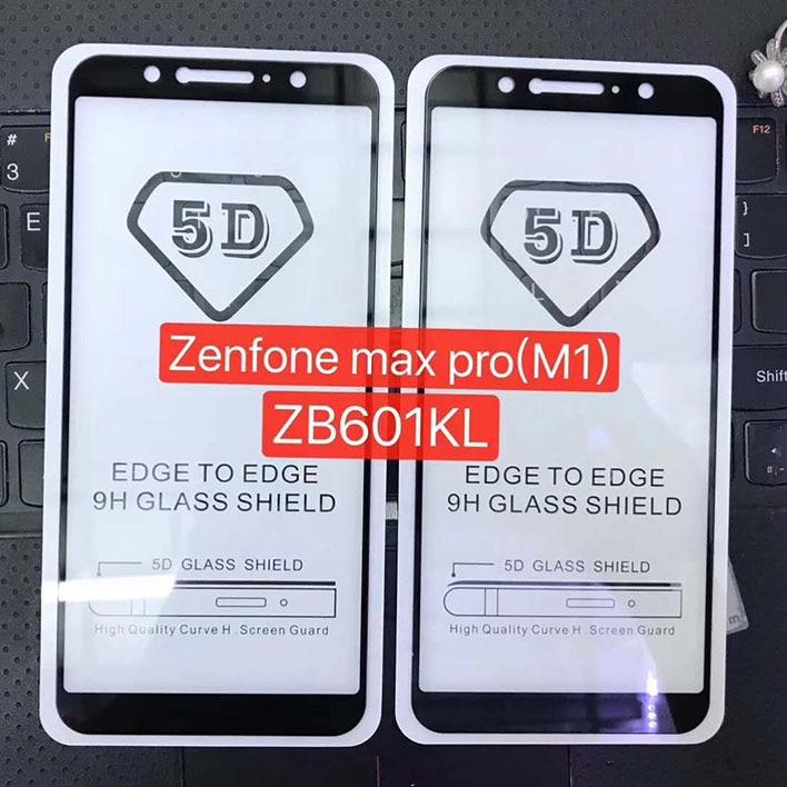 2pcs 5D Tempered Glass ASUS Zenfone MAX PRO (M1) M2 Full Coverage Screen Protective Film Zb631kl ZB601KL ZB602KL Full Glue