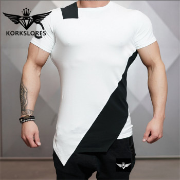 2018 Gyms Bodyengineers Summer The Stadium Shark Stringer T-shirt Man Bodybuilding And Fitness Crime Short Sleeve T-shirt 4